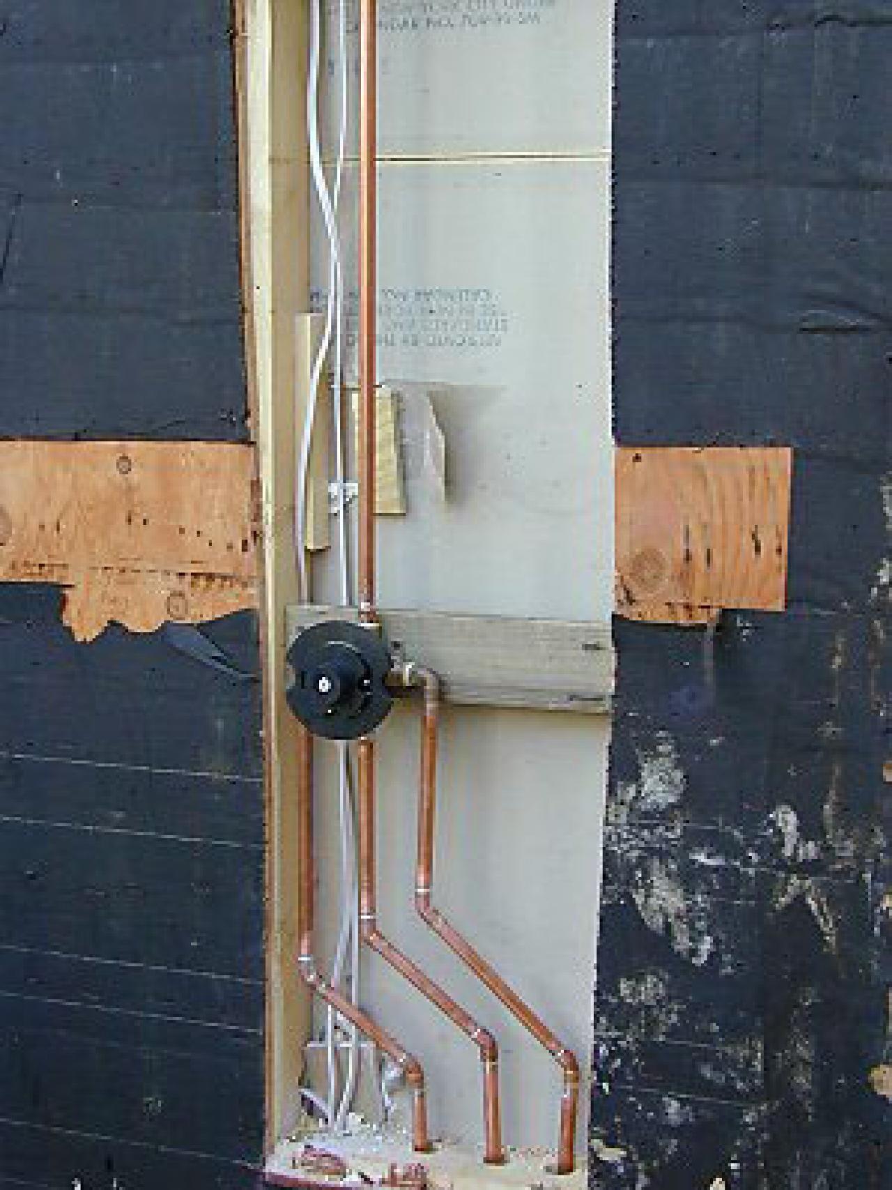 How to Build an Outdoor Shower Shower plumbing, Outdoor
