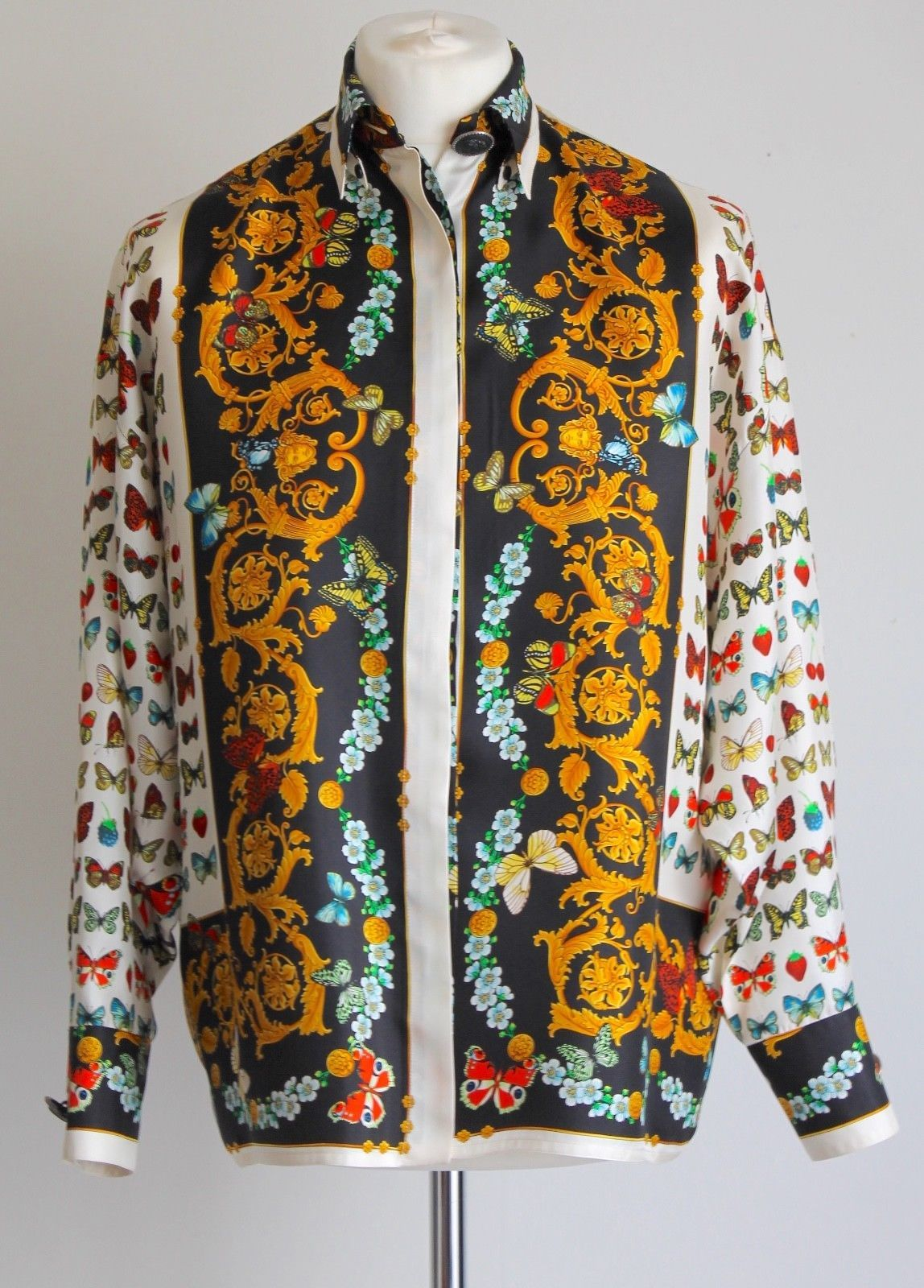 70e029c2 Versace Couture Silk Print 90's Shirt. Baroque, Medusa and Butterfly print.  Gorgeous! £1,200 BNIB