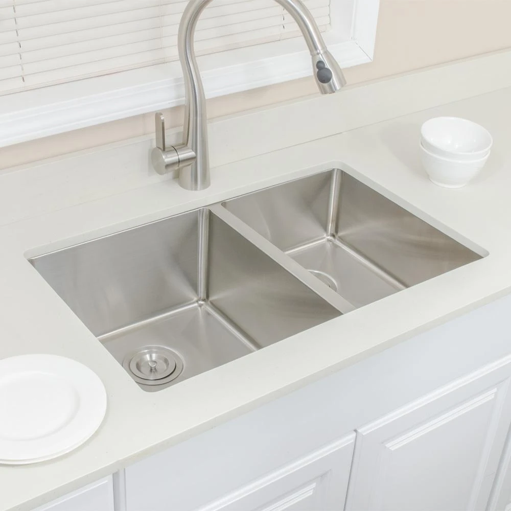 30 Monson Stainless Steel Double Bowl Undermount Sink Undermount Kitchen Sinks Double Basin Kitchen Sink Double Bowl Undermount Sink