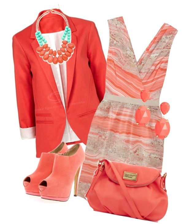 """Peachy, Just Peachy"" by jackaford-bittick ❤ liked on Polyvore"