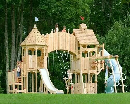 Grand Wooden Castle Playground Source Unknow Products For