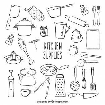 High Tech Kitchen Gadgets Anti Stress Cocinar Dibujo Manos