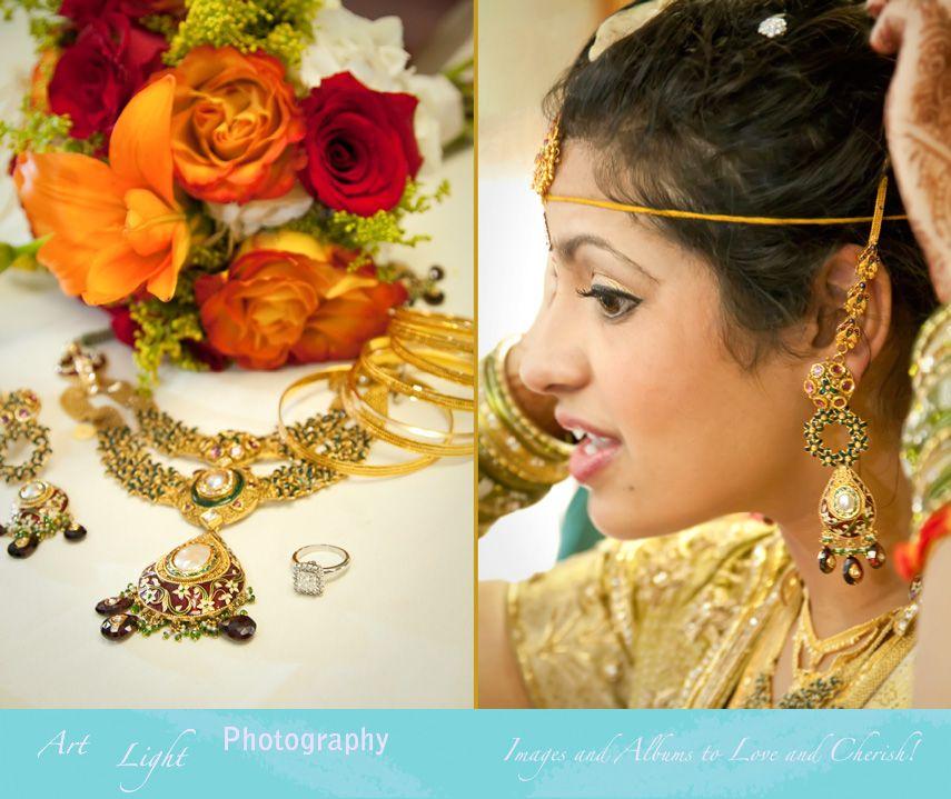 East Indian Wedding Jewelry and Bridal Bouquet Shaadi Wedding