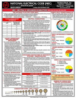 2014 National Electrical Code Laminated Quick Card 4 My