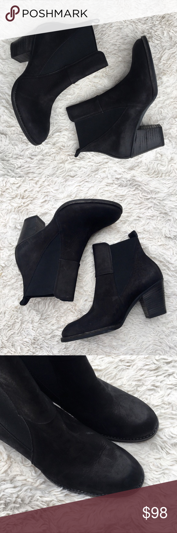 f0e6cd2c6c5b NWOT PAUL GREEN Jules Chelsea Boots Oiled leather pull-on Chelsea booties.  These are