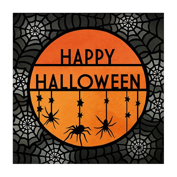 Halloween Greeting Card   Original Papercut Illustration   Printed Card    By SarahTrumbauer On Etsy