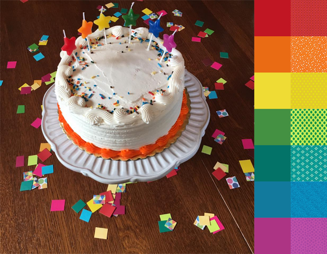 Birthday Bash - #123quilt #colorplayfriday #color #palette #colorpalette #inspiration #colorinspiration #ilovecolor #colorcrush #ilovefabric #fabriclove #fabricaddict http://123quilt.blogspot.com/2016/09/color-play-friday-birthday-bash.html