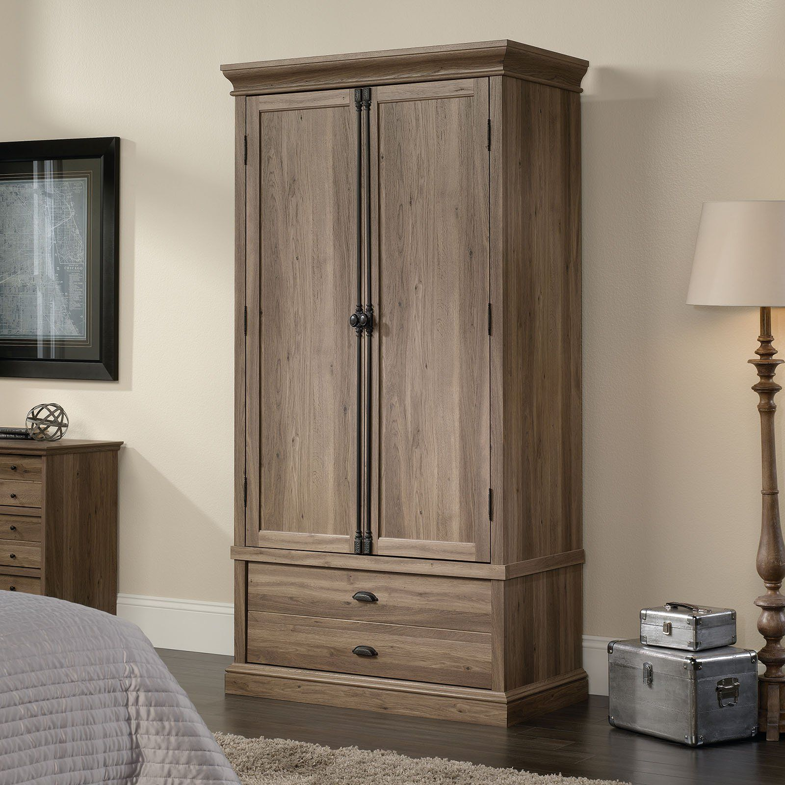 Sauder Barrister Lane Armoire   Salt Oak   When Youu0027re In Need Of Extra  Storage, Let The Sauder Barrister Lane Armoire  Salt Oak Help You House  Your ...