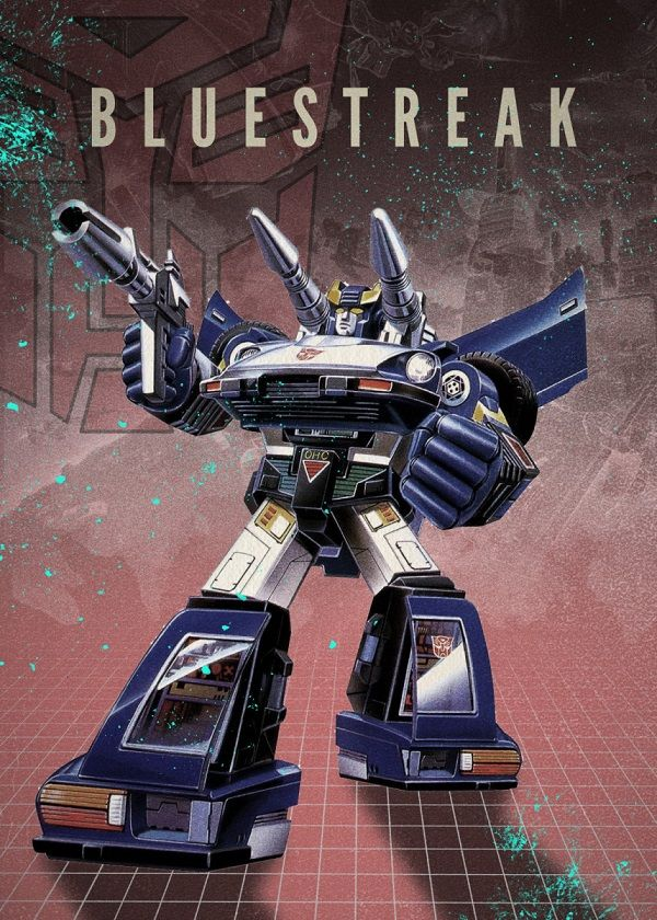 "Transformers Autobots Bluestreak #Displate explore Pinterest""> #Displate artwork by artist ""Rykker o7"". Part of… 