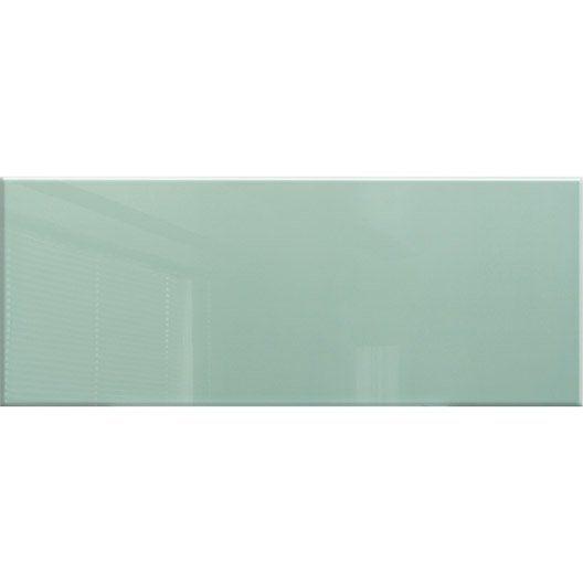 fa ence mur vert d 39 eau loft brillant x cm ernestine by la pause arciiitectiire. Black Bedroom Furniture Sets. Home Design Ideas