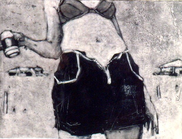 Monotype by Barbara Brainard.