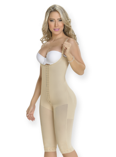 cdbecc33afa8f Fajas Colombianas M D Full Body Shaper Strapless Post Surgical Compression  Garment Faja Modeadora 0077-S   Beige