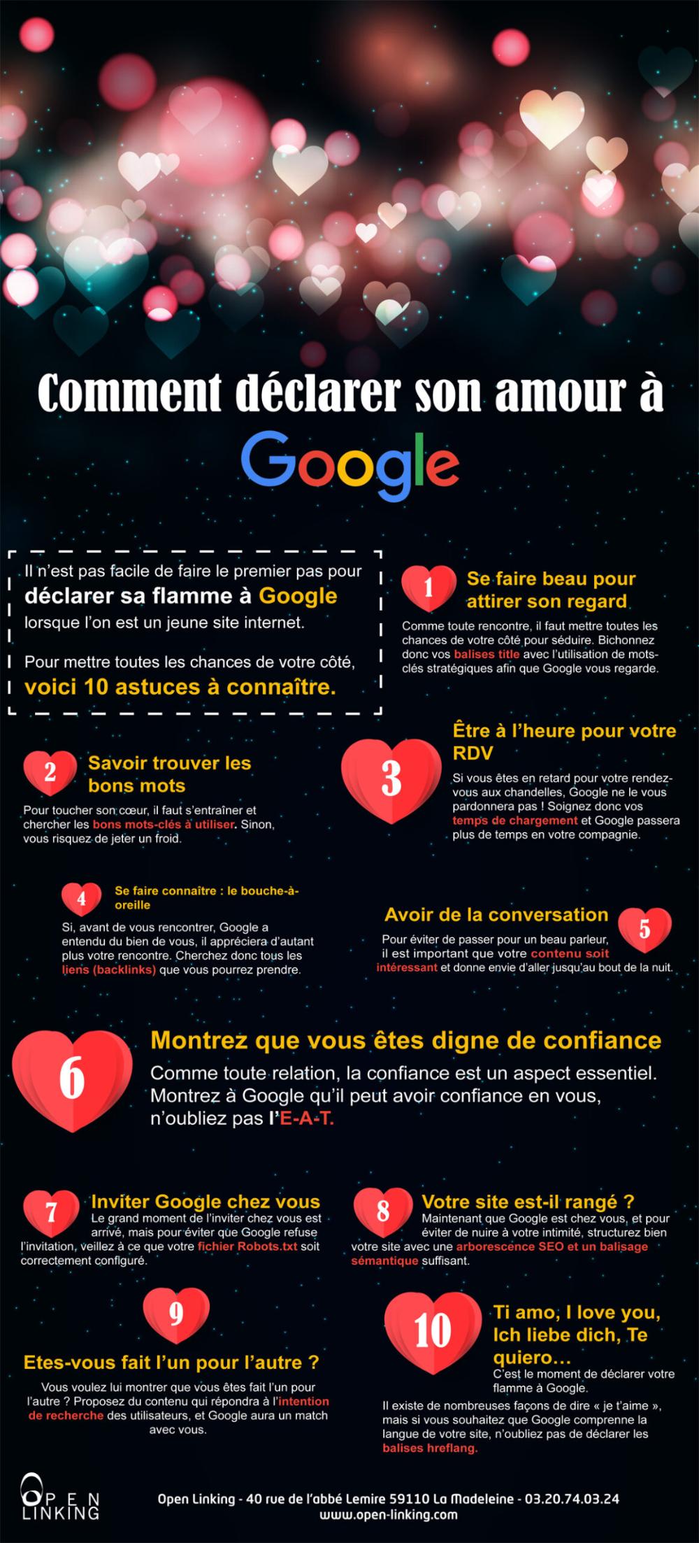 Infographie Seo Et Saint Valentin Comment Seduire Google Actualites Seo Et Moteurs Abondance En 2020 Infographie