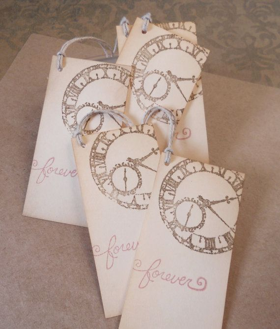 wedding wish tree tags vintage clock gift by piccadillystation 500