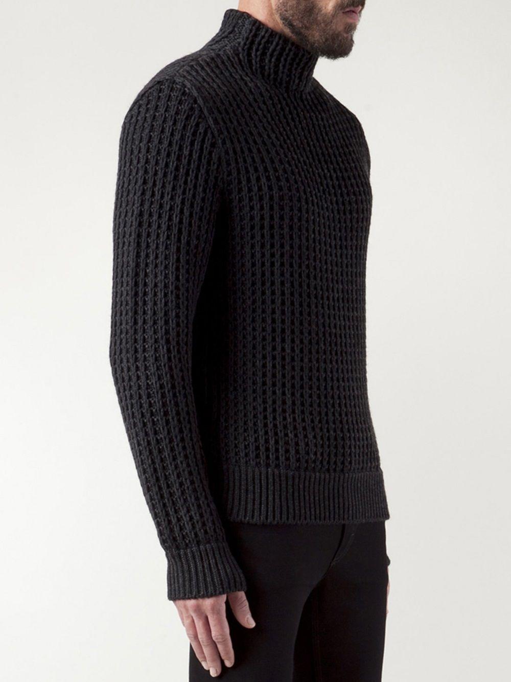 Calvin Klein Collection chunky turtleneck sweater #wonderfulstore