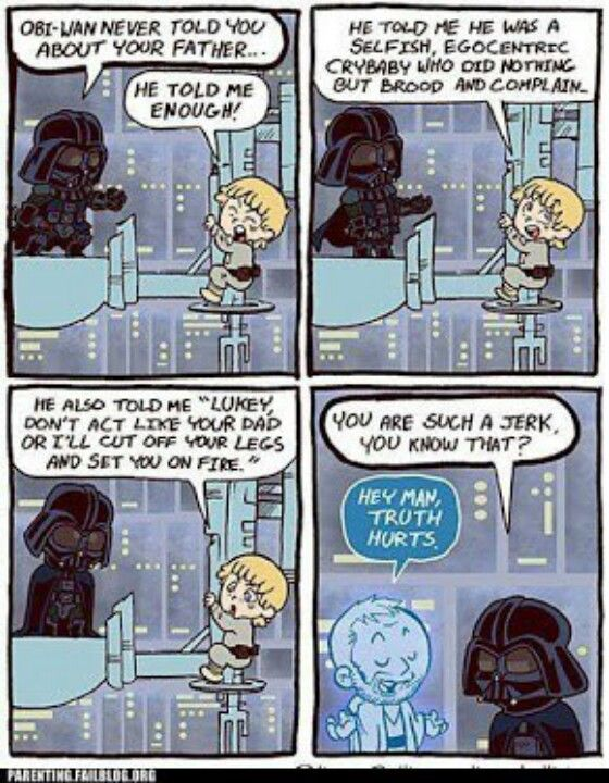 It says it all, really! Star wars