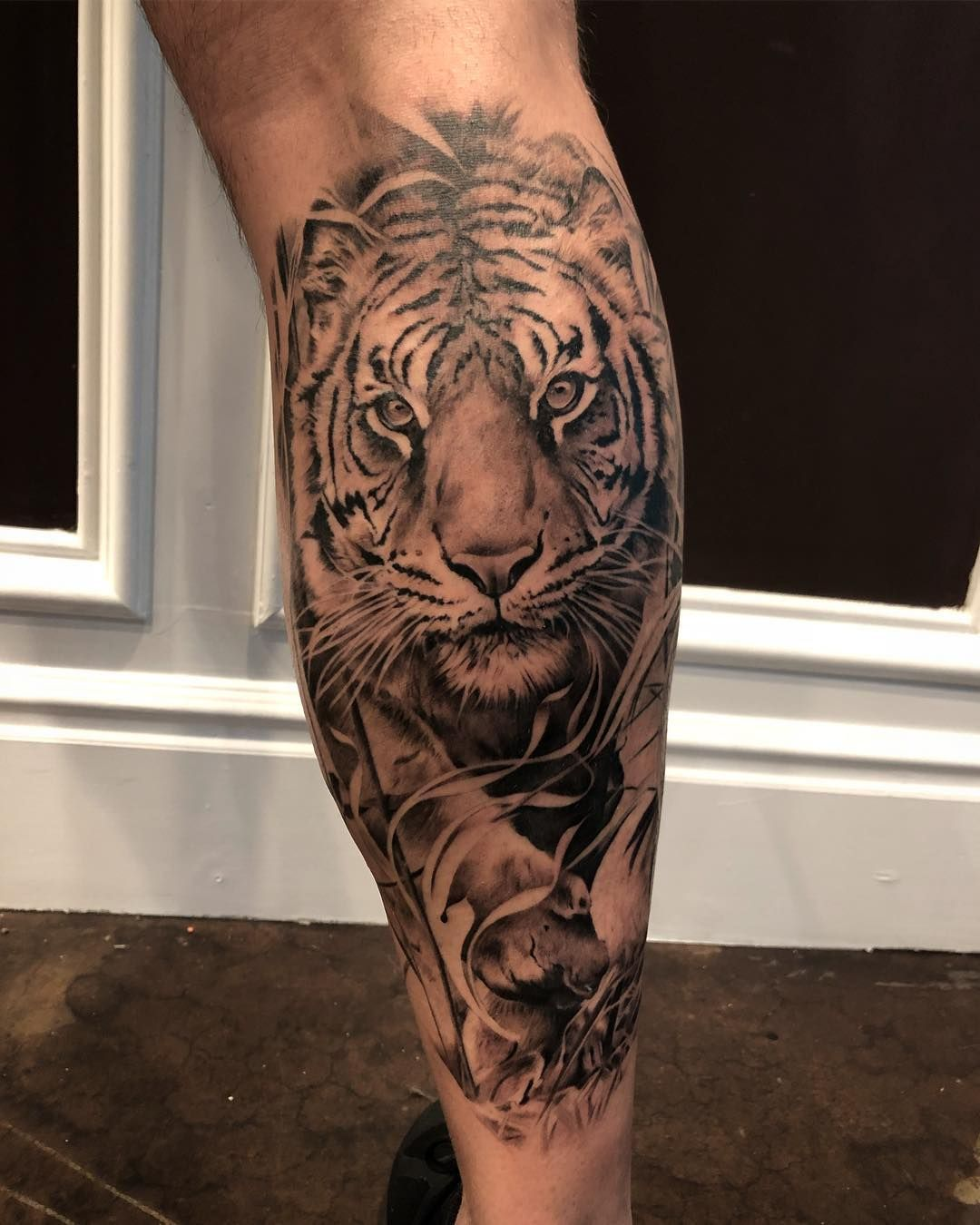 Behind Posts So Stay Tuned For New Work This Week Last Session On Xander Amzsessions Tiger Tigertattoo Tiger Tattoo Design Mens Tiger Tattoo Tiger Tattoo