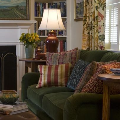 Traditional Home Comfy Cozy Living Room Design, Pictures ...