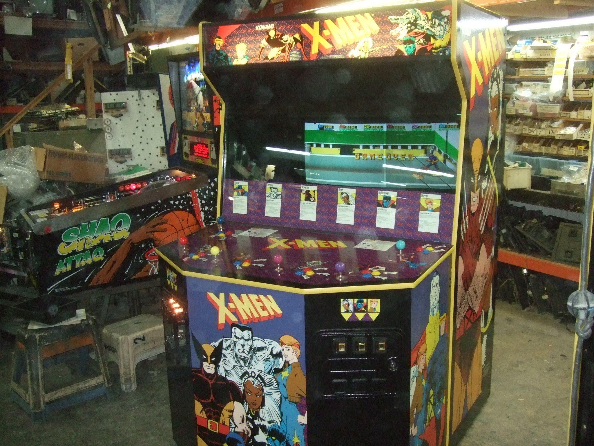Gigantic Konami X Men 6 Player Arcade Video Game Huge Tnt Amusements Arcade Arcade Video Games Konami