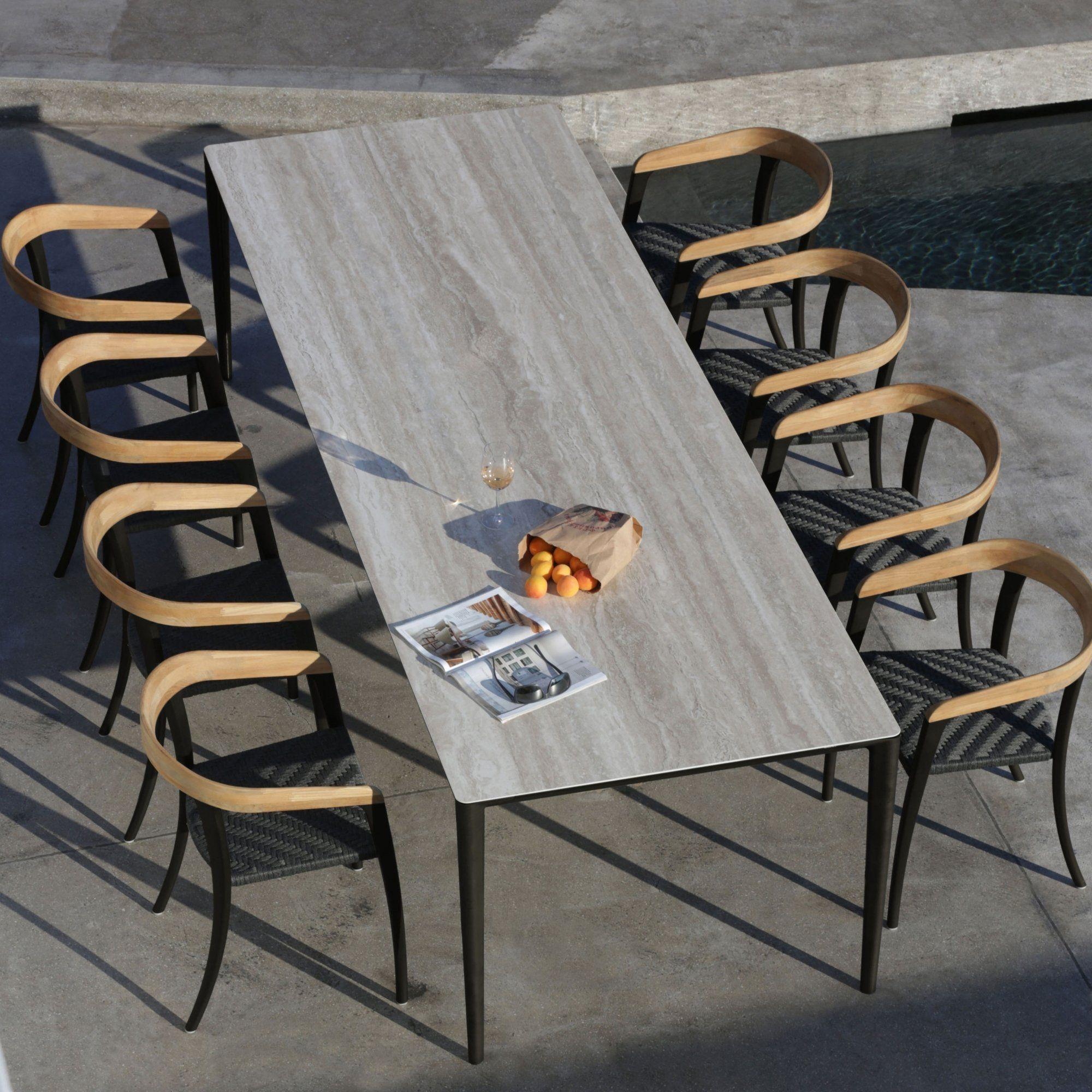 Table de jardin en bois gris pour 10 personnes | Décoration ...