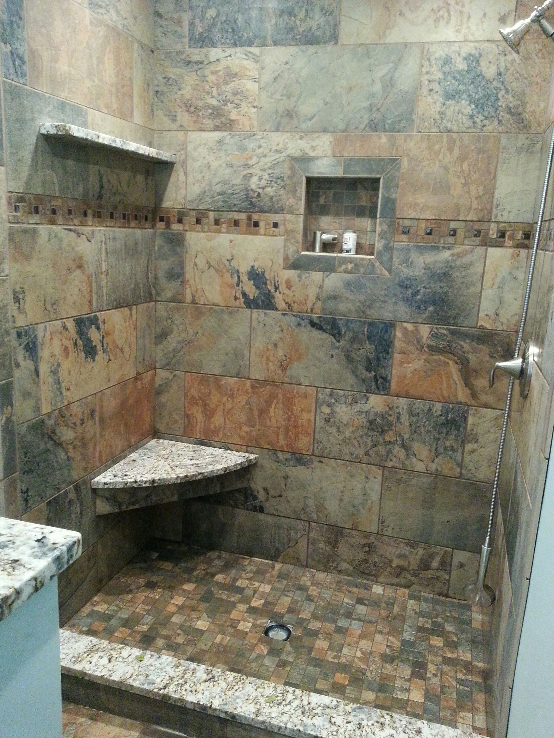 Custom Shower Still Under Construction Florida Tile S