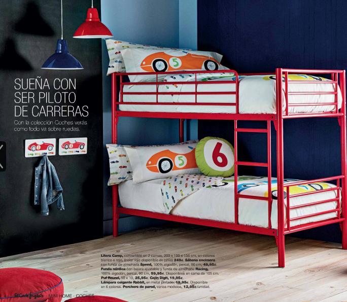 Mini home el corte ingl s dormitorio infantil con literas for Muebles infantiles el corte ingles