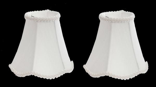 Scallop Chandelier Mini Shade 6 Inch Clip On Off White Set Of 2 Chandelier Shades Shades Rectangular Lamp Shades