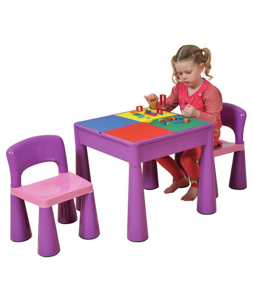 Buy 5 In 1 Table And Chairs Writing Lego Top Sand Water