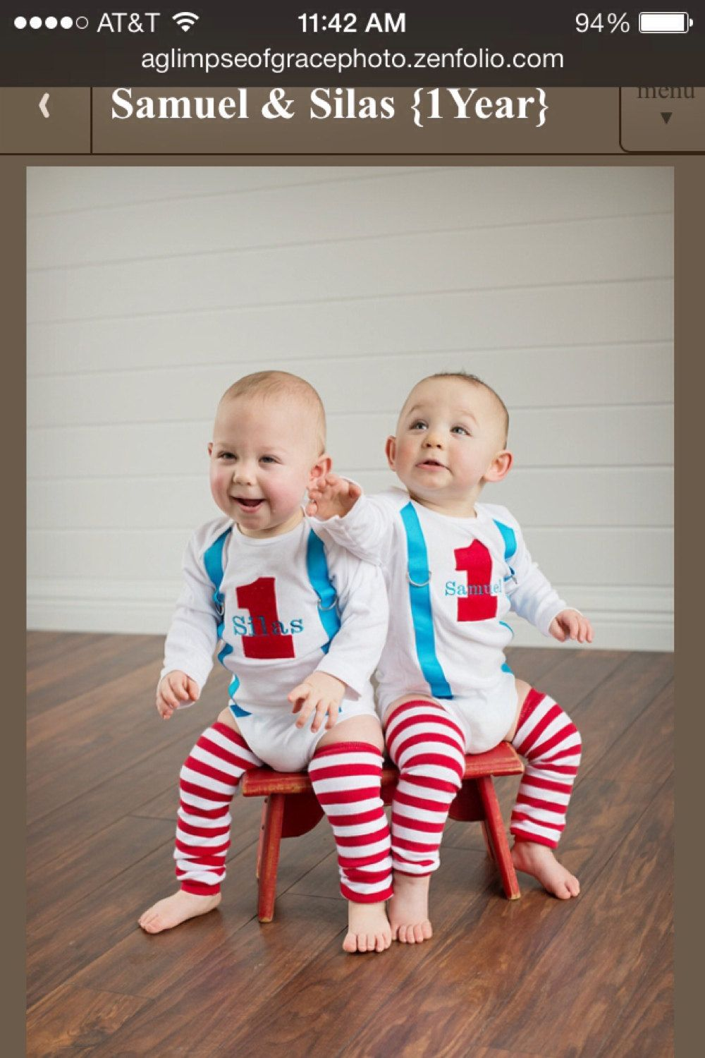 Twin Boys 1st Birthday OutfitPERSONALIZED by
