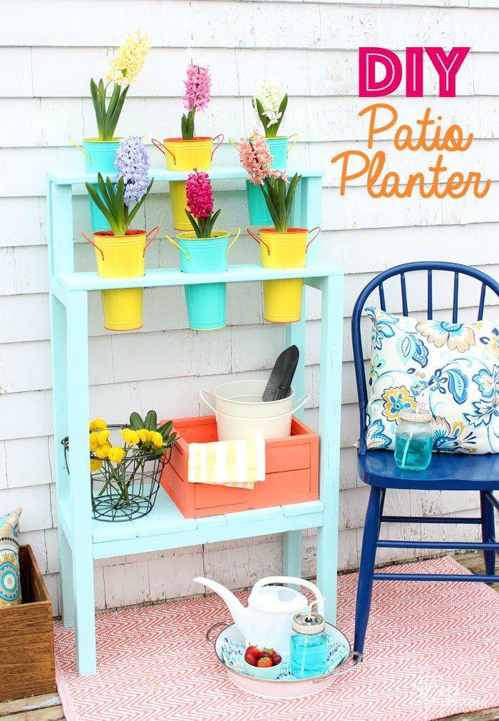 Easy To Build Patio DIY Planter  Outdoor Extravaganza
