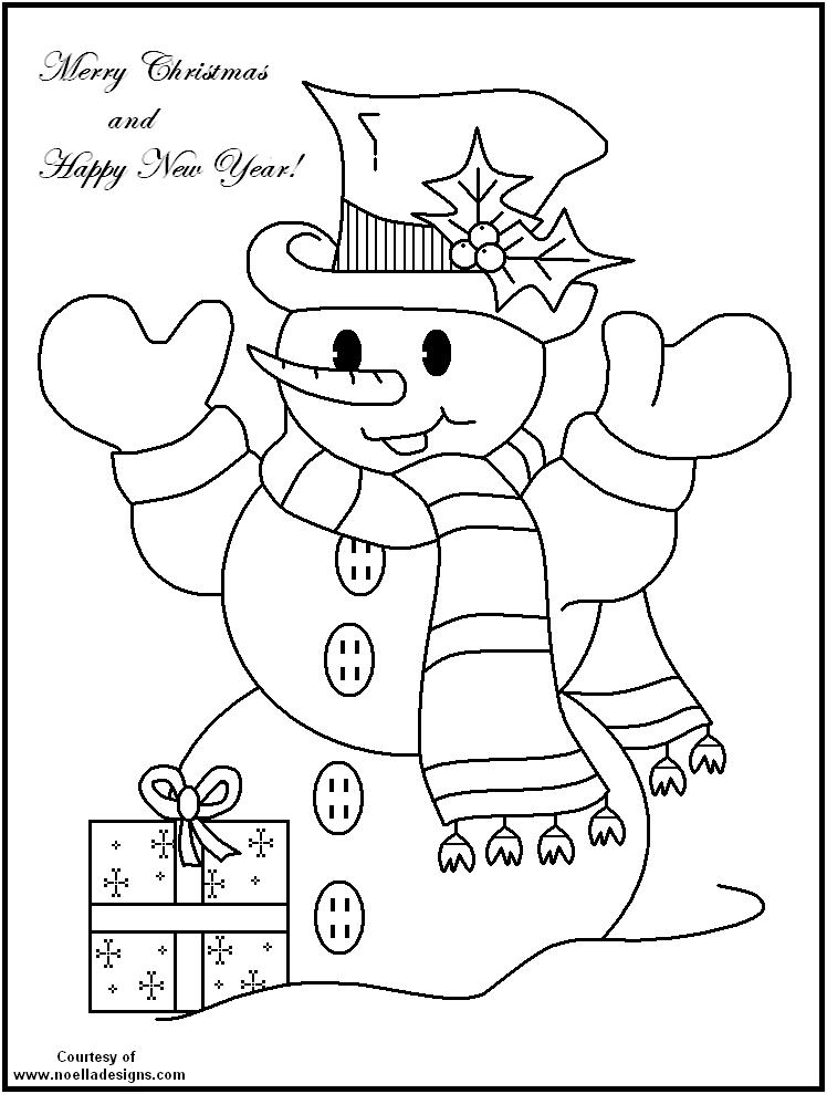Printable Snowman  FREE Printable Christmas Coloring Pages  Fun