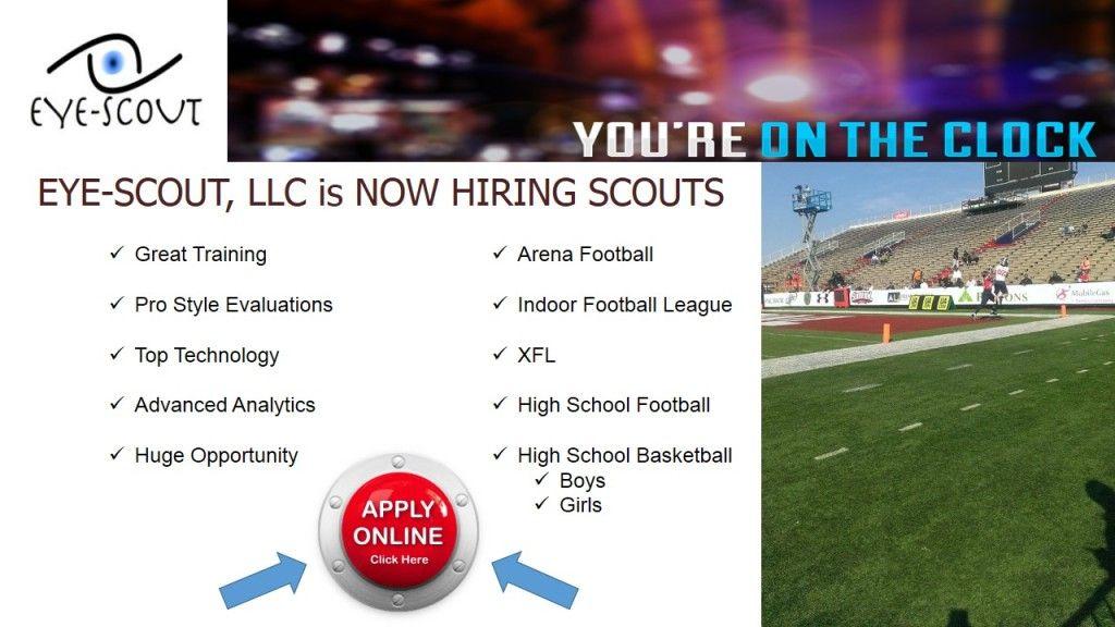EyeScout is now hiring regional scouts! High school