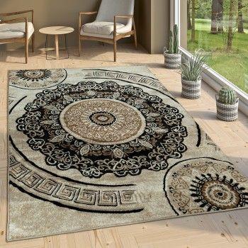 Designer Teppich Mit Mandala Motiv In Braun Versace Teppich