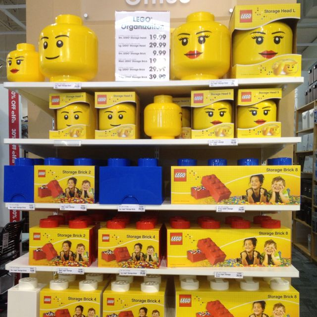 Just saw these at the Container store Theyre Lego storage ricks