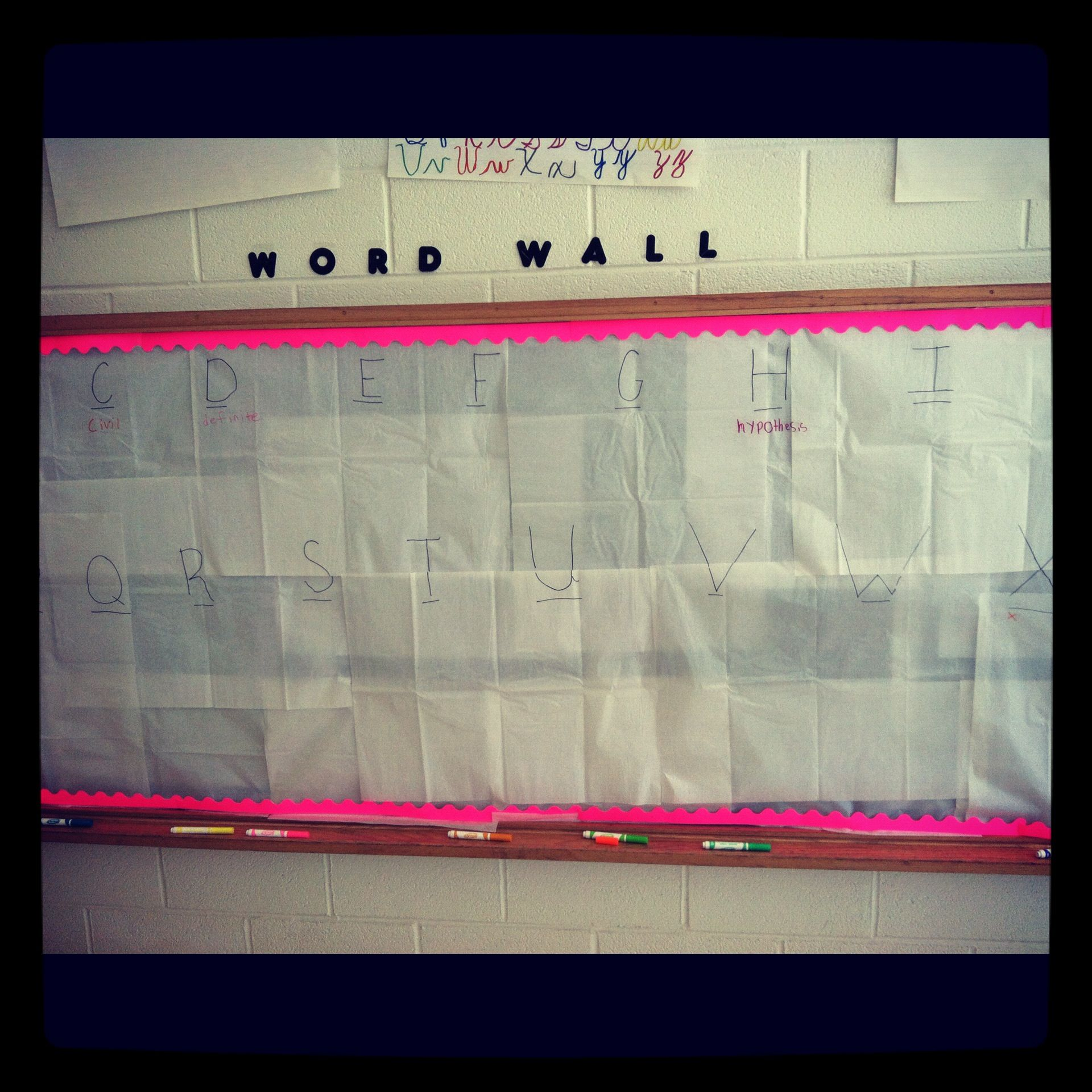 Interactive Word Wall In My Room The Kids Love It