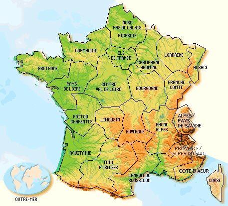 Streken In Frankrijk Frankrijk Afbeeldingen Kaarten