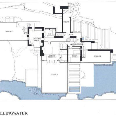 iconique  la Fallingwater house, un manifeste du0027architecture - plan de maison avec patio