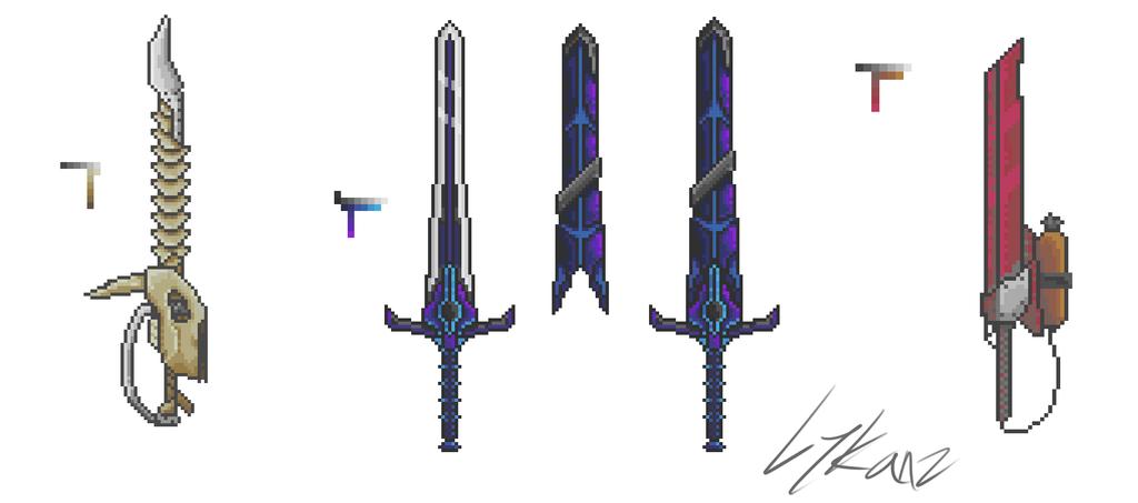 Mini Pixel Sword Collection By Archjw Pixel Sword Mini