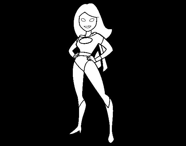 Dibujo De Superheroina Para Pintar Y Colorear En Linea Superheroinas Arte Super Heroe Superheroes Dibujos