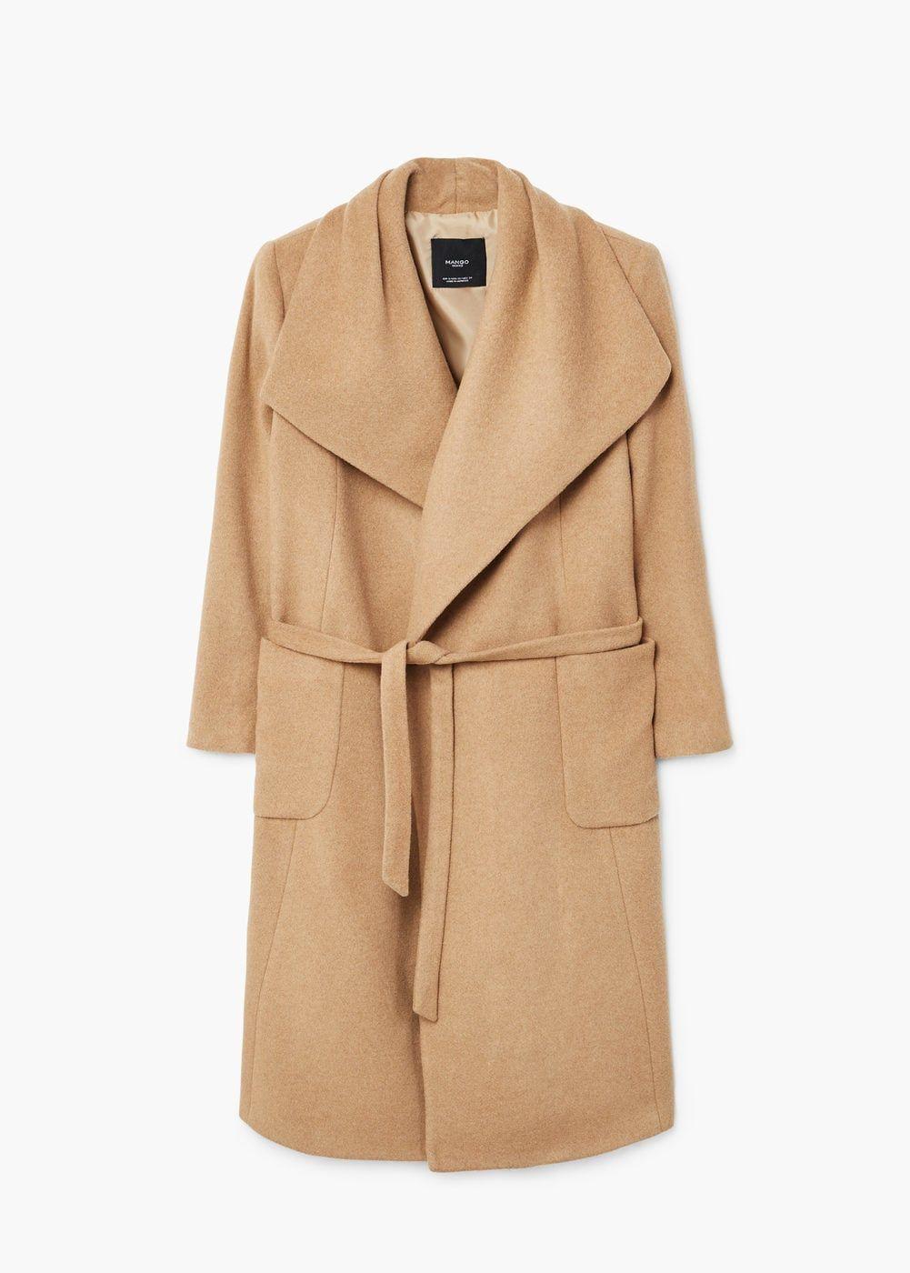 Abrigo lana cinturón Mango 120€ fa3b40ff1ba3