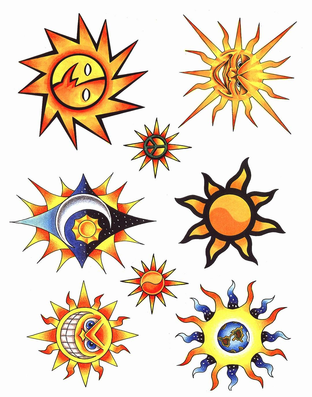 sun art sun clip art and sun tattoos art Tattoos Art