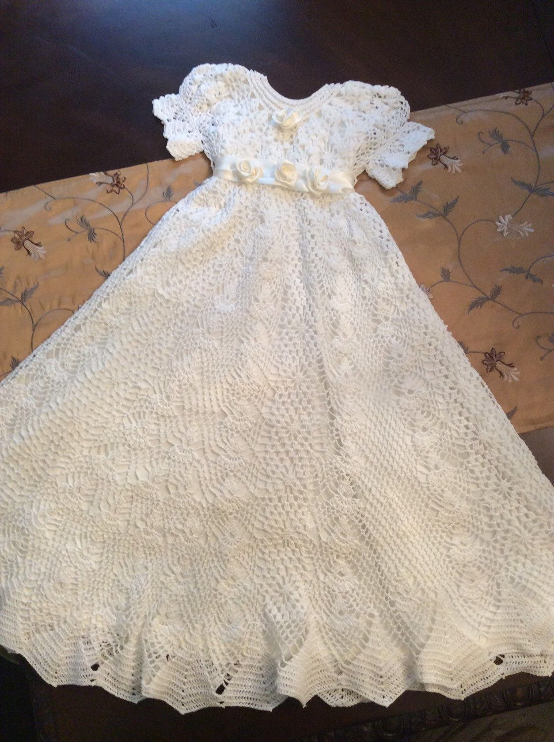 Made to order for Shaniqua | Crochet baby christening outfits ...