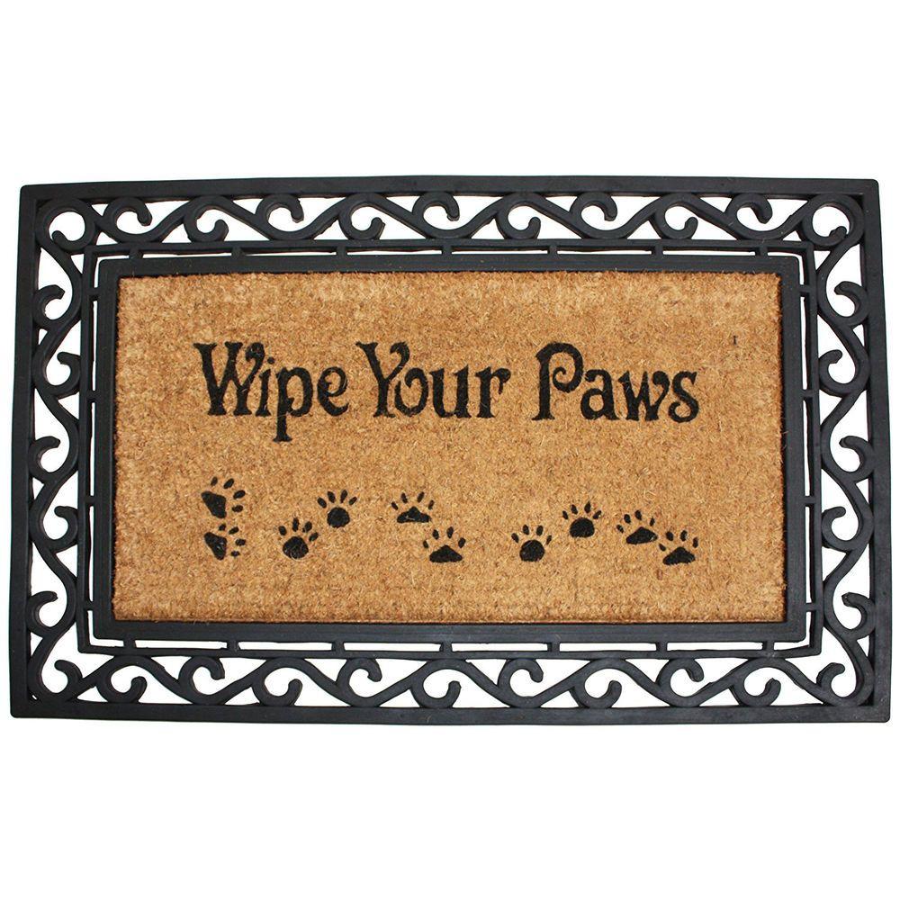 Rubber Doormat Wipe Your Paws Outdoor Floor Welcome Entrance Rug