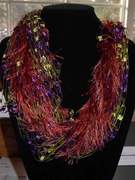 Neck Scarfs Eyelash Trellis Yarn Necklace 10 50 Usd