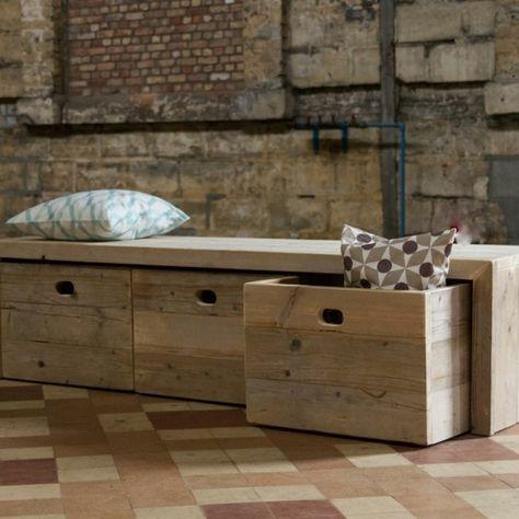 Le banc de rangement - un meuble fonctionnel qui personnalise le
