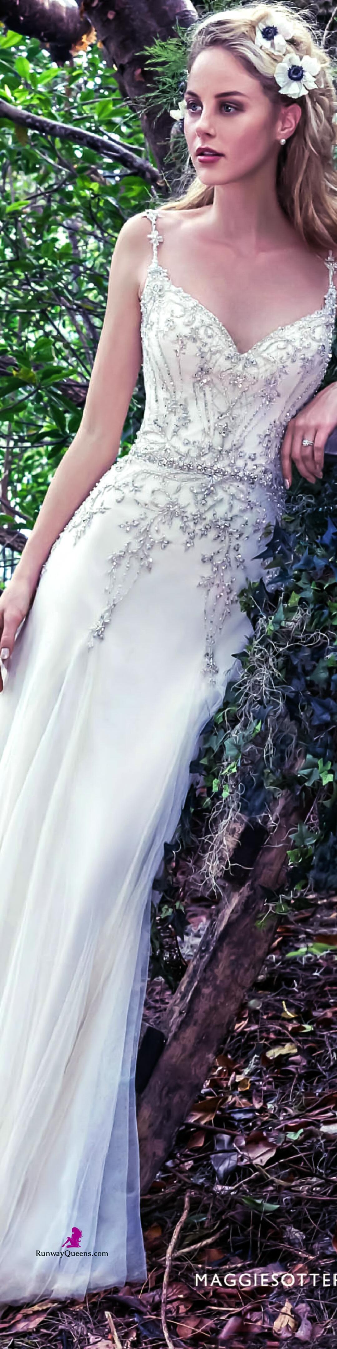 Maggie Sottero, Fashion 2017, white, golden embroi