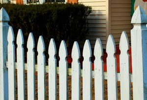 Fence Pictures: Picture of French Gothic picket fence.