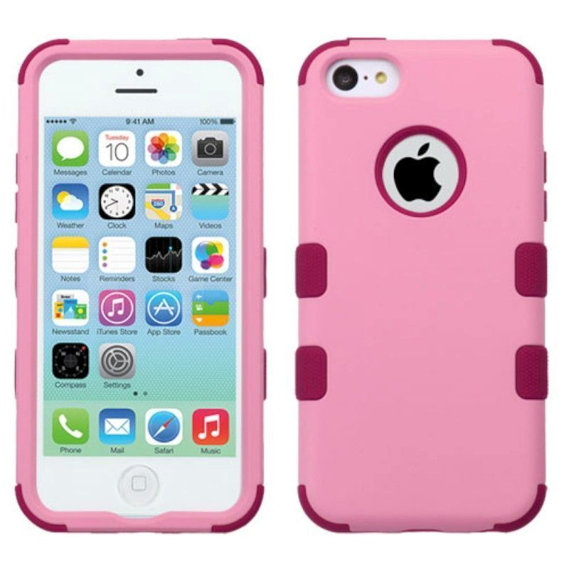 Insten Tuff Hard PC/ Silicone Dual Layer Hybrid Rubberized Matte Case Cover For Apple iPhone 5C #2195437