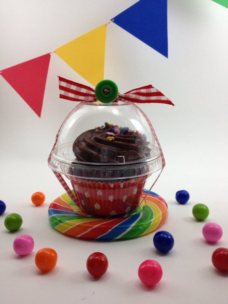 40 clear cupcake boxes party wedding favor candy cup