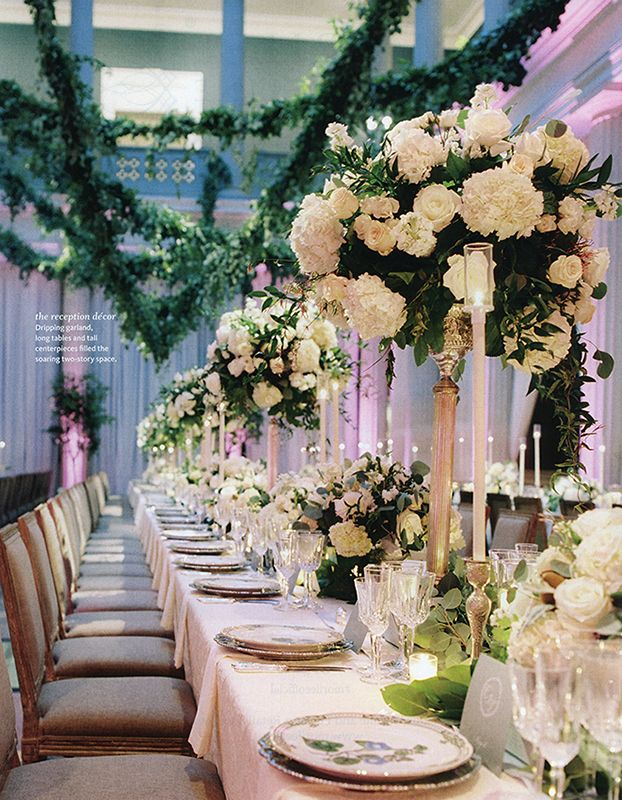 Enchanted Elegance This real wedding reception dcor